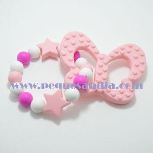 Mordedor de silicona en tonos rosas Pequesandia