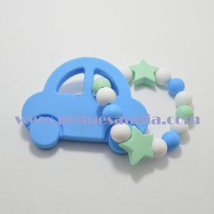 Mordedor de silicona en tonos azules y grises Pequesandia