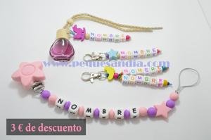 Pack 2 Pequesandia Chupetero + 2 Llaveros + Ambientador